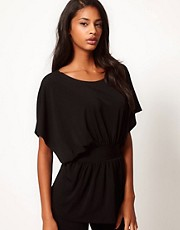 ASOS Top with Kimono Sleeve in Crepe
