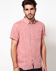 Edwin - Edward - Camicia in chambray a maniche corte