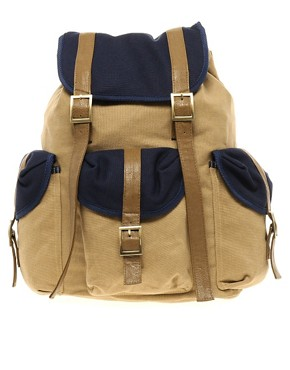 Image 1 of ASOS Backpack with Contrast Military Panels