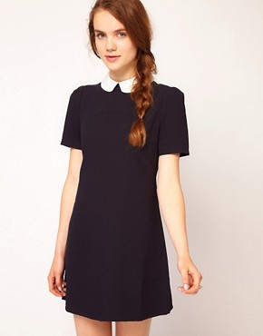 Image 1 ofDahlia Flower Collar Shift Dress