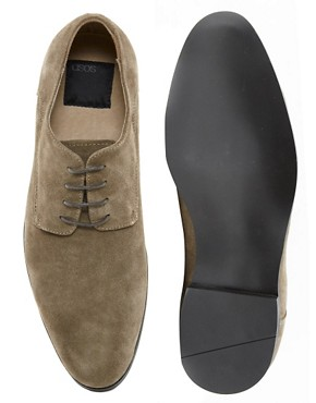 Image 3 ofASOS Derby Shoes in Suede