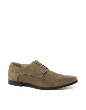 Image 1 ofASOS Derby Shoes in Suede