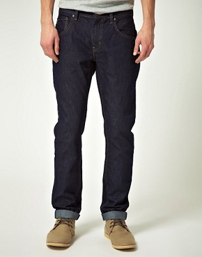 Image 1 ofRiver Island Ninja Raw Slim Fit jeans