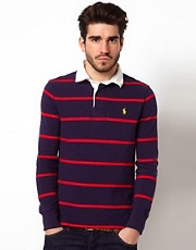 Polo Ralph Lauren Stripe Rugby in Slim Fit