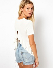 ASOS Top with Ruffle Back