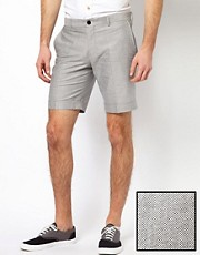 Selected  Shorts mit Paspelierung