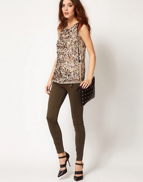 Image 4 ofRiver Island Erin Coloured Skinny Jean with Zip Detail