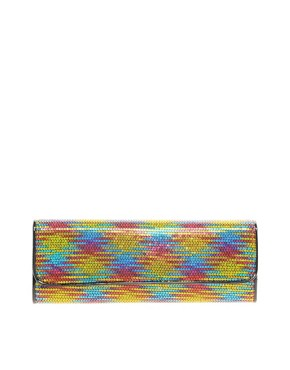 Image 1 ofALDO Holvey Multi Coloured Sequin Clutch Bag