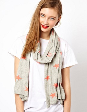 Image 1 ofMaison Scotch Star Print Scarf