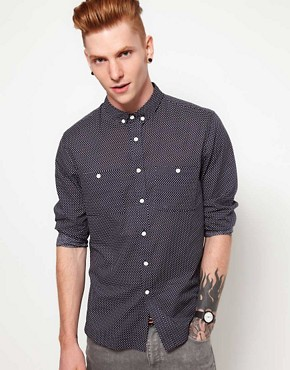 Image 1 ofTwo Square Shirt with Polka Dot Print