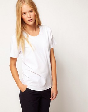 Image 2 ofASOS WHITE Thumb T-Shirt