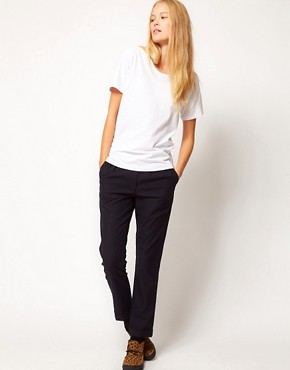 Image 4 ofASOS WHITE Thumb T-Shirt