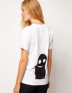 Image 1 ofASOS WHITE Thumb T-Shirt