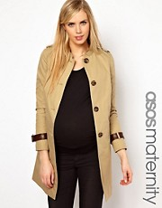 ASOS Maternity Trench with Tab Detail
