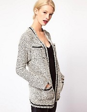 ASOS Boxy Cardigan in Textured Yarn