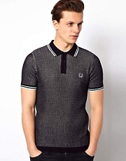 Fred Perry Laurel Wreath Polo with Textured Knit