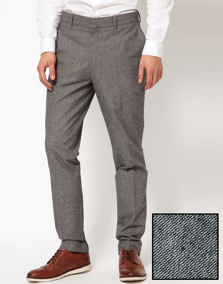 Image 1 of ASOS Slim Fit Smart Trousers