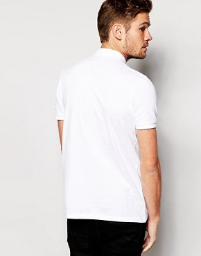 Image 2 of ASOS Mini Button Down Collar Pique Polo