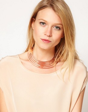 Image 2 ofASOS Rose Gold Torque Necklace