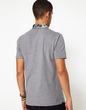 Image 2 ofWings &amp; Horns Polo With Camo Collar