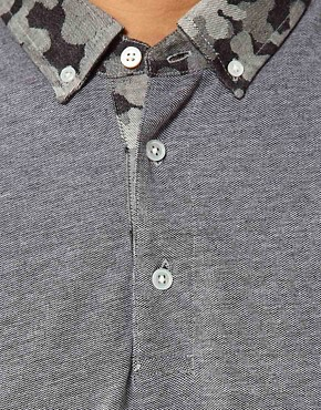 Image 3 ofWings &amp; Horns Polo With Camo Collar
