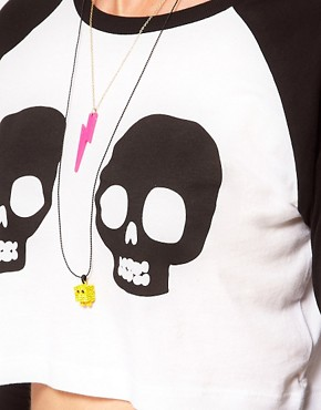 Image 3 ofLazy Oaf Skull Crop Top