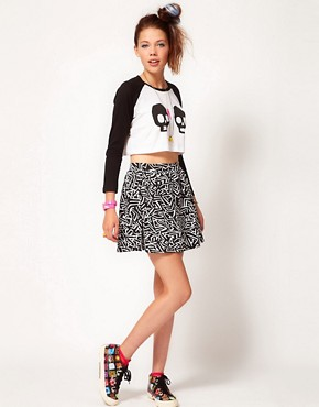 Image 4 ofLazy Oaf Skull Crop Top