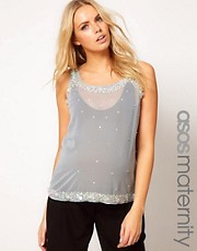 ASOS Maternity Vest With Embellishment