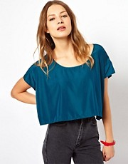 American Apparel Silky Crop Top