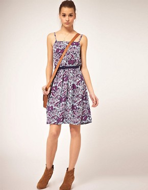 Image 4 ofOrion Morris Print Dress With Belt