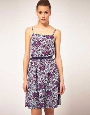 Image 1 ofOrion Morris Print Dress With Belt