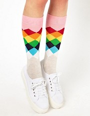 Calcetines con rombos desgastados de Happy Socks