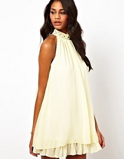 Elise Ryan Embellished High Neck Swing Dress