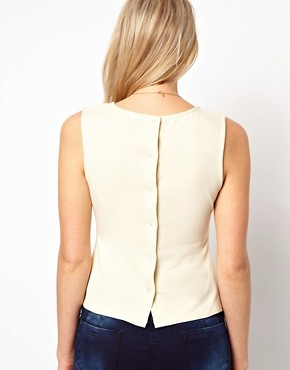 Image 2 of ASOS PETITE Top With Peplum Bow
