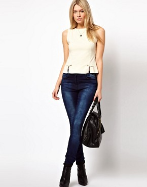 Image 4 ofASOS PETITE Top With Peplum Bow