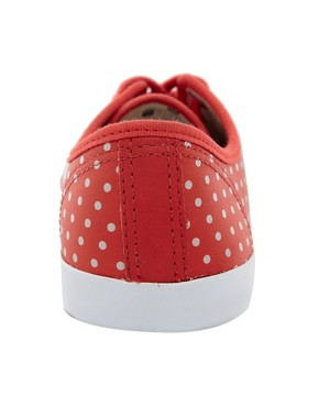 Image 4 ofVeja Taua Leather Red Polka Dot Plimsolls