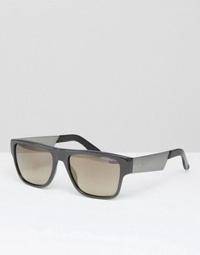 Carrera Flat Brow Sunglasses In Black