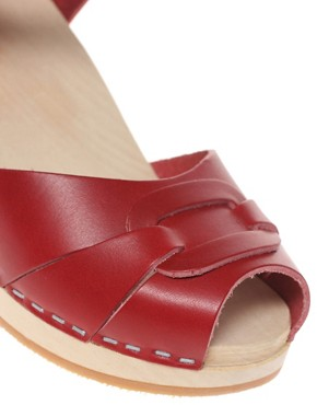 Image 3 ofSwedish Hasbeens Peep Toe Super High Sandals