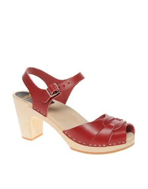 Image 1 ofSwedish Hasbeens Peep Toe Super High Sandals