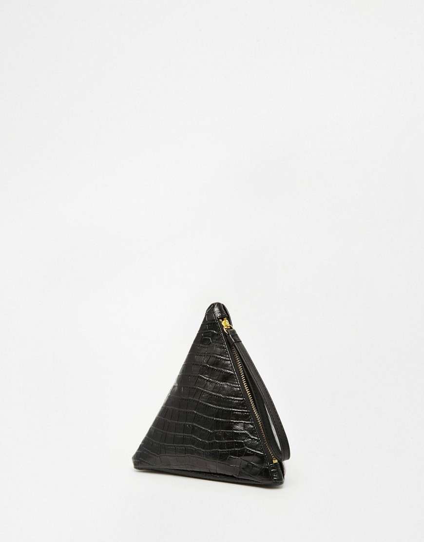 Monki Pyramid Purse - Black