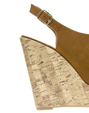 Image 2 ofNew Look Highness Vamp Tan Wedge Sandals