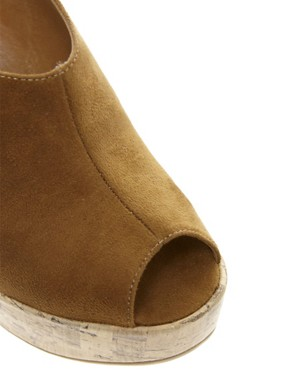 Image 4 ofNew Look Highness Vamp Tan Wedge Sandals