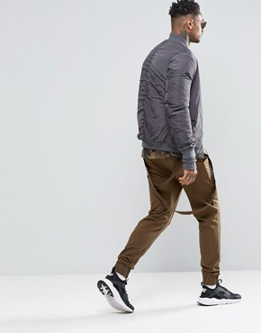 ASOS Skinny Joggers With Rear Taping Detail And Woven Pockets In Khaki