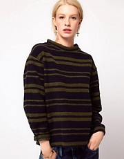 ASOS Woolly Jumper in Stripe