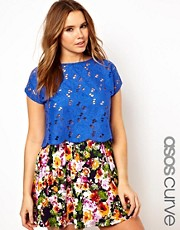 ASOS CURVE Top With All Over Embroidery And Cutwork
