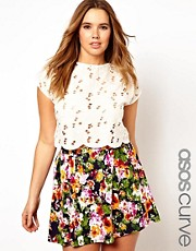 ASOS CURVE - Top con ricami e ritagli
