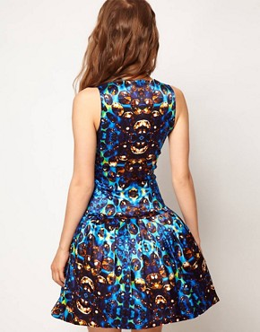 Image 2 ofASOS Prom Dress In Jewel Print