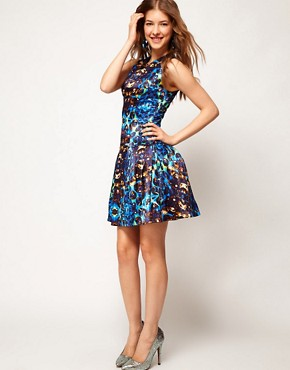 Image 4 ofASOS Prom Dress In Jewel Print
