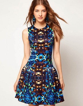 Image 1 ofASOS Prom Dress In Jewel Print