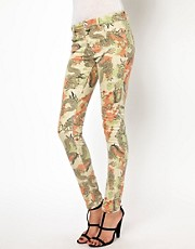 River Island Dragon Print Jean